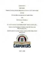 Commerical Carpenters & Floorcoverers Labor Agreement, 2017 – 2020