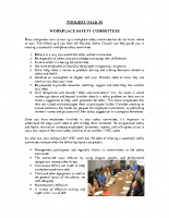 TBT-05 WORKPLACE SAFETY COMMITTEES