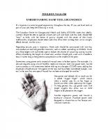 TBT-10 UNDERSTANDING HAND TOOL ERGONOMICS