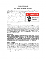 TBT-23-ELECTRICAL HAZARDS BE AWARE