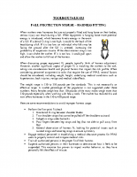 TBT-33 – FALL PROTECTION MISUSE – HARNESS FITTING