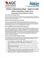 COVID 19 Toolbox Talk #4