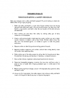 TBT-02 TIPS FOR STARTING A SAFETY PROGRAM
