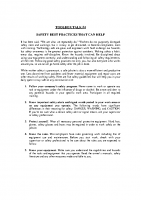 TBT-04 SAFETY BEST PRACTICES THAT CAN HELP