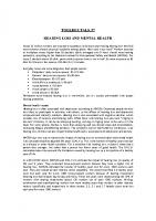 TBT-07 HEARING LOSS AND MENTAL HEALTH