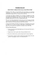 TBT-20 DUMP TRUCK OPERATOR FATALLY ELECTROCUTED