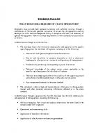 TBT-30 WHAT DOES OSHA REQUIRE OF CRANE OPERATORS