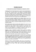 TBT-42 INCREASE ENGAGEMENT THROUGH COMMUNICATION