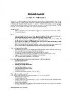 TBT-50 COVID 19 – THE BASICS