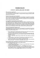 TBT-51 COVID 19 – MENTAL HEALTH CONCERNS