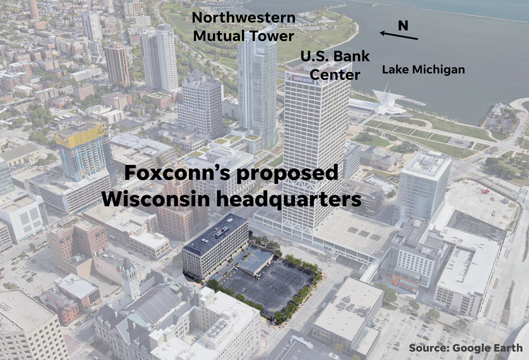 Foxconn to Create North American Headquarters in Downtown Milwaukee