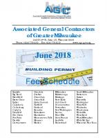Builder Permit Fee Schedule 2018