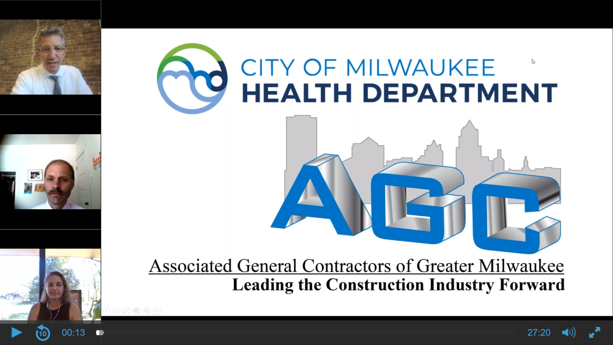 AGC Stays on top of City of Milwaukee's MKE Cares Mask Ordinance with Informational Session